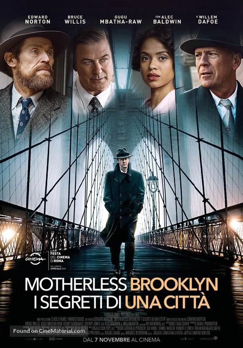 Motherless Brooklyn - Italian Movie Poster
