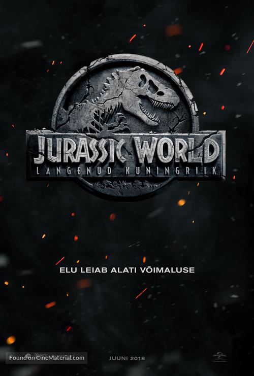 Jurassic World: Fallen Kingdom - Estonian Movie Poster