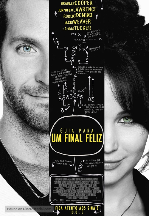 Silver Linings Playbook - Portuguese Movie Poster
