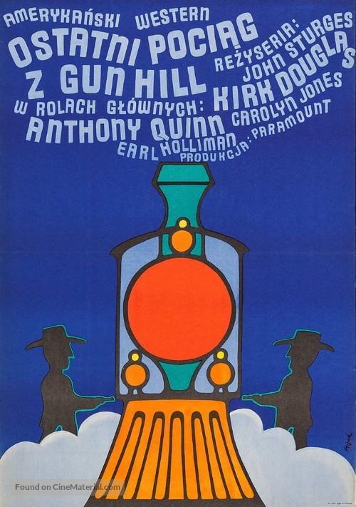 Last Train from Gun Hill - Polish Movie Poster