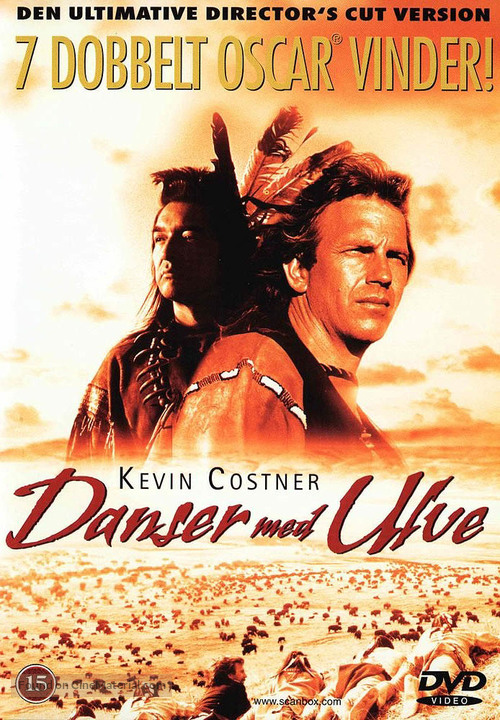 Dances with Wolves - Danish DVD movie cover