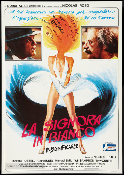 Insignificance - Italian Movie Poster