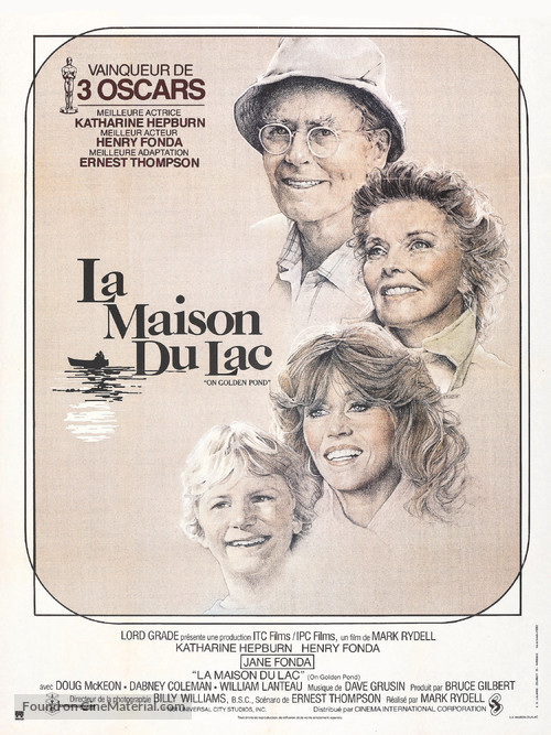 On Golden Pond - French Movie Poster