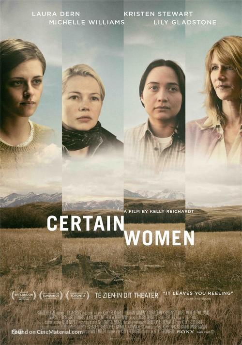 Certain Women (2016) Dutch movie poster
