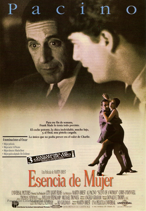 Scent of a Woman - Spanish Movie Poster