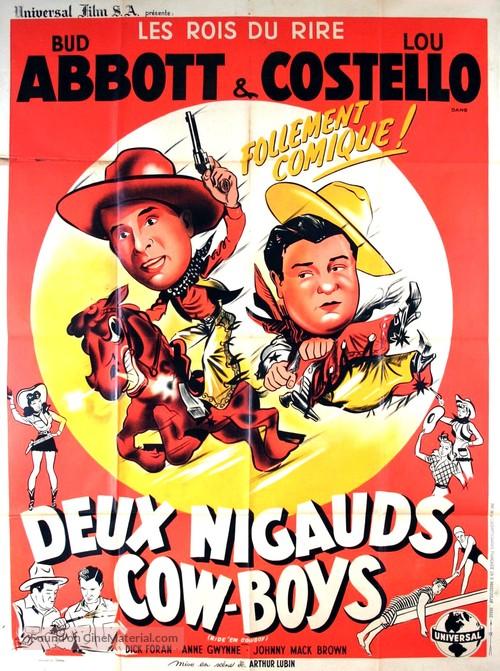 Ride 'Em Cowboy - French Movie Poster