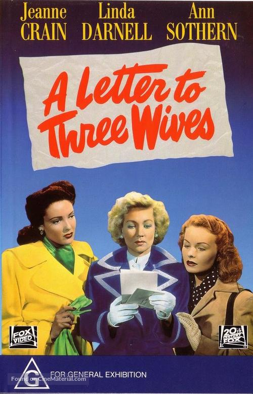 A Letter to Three Wives - Australian DVD movie cover