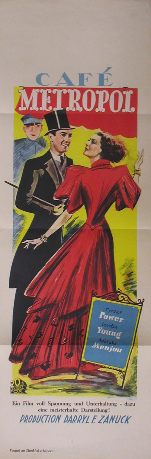 Café Metropole - Czech Movie Poster