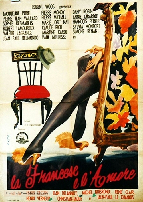 La française et l'amour - Italian Movie Poster