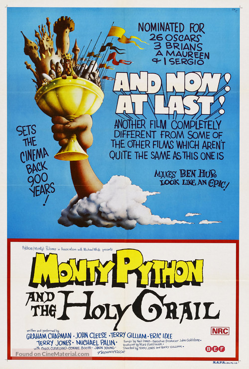 Monty Python and the Holy Grail - Australian Movie Poster