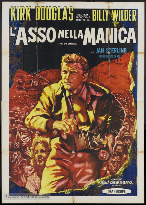 Ace in the Hole - Italian Movie Poster