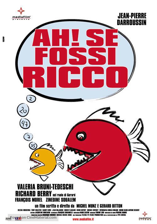 Ah! Si j'étais riche - Italian poster