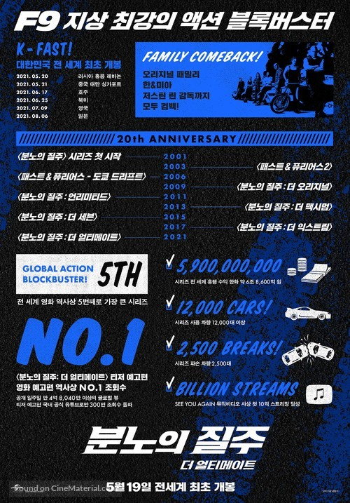 Fast & Furious 9 - South Korean Movie Poster