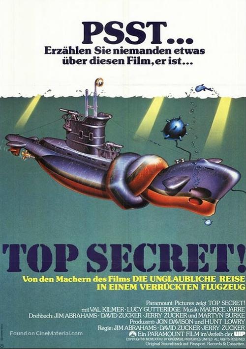 Top Secret - German Movie Poster