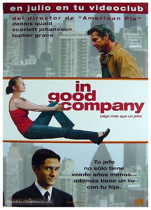 In Good Company - Spanish DVD movie cover