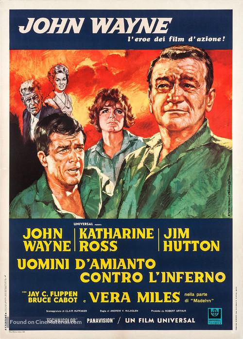 Hellfighters - Italian Movie Poster