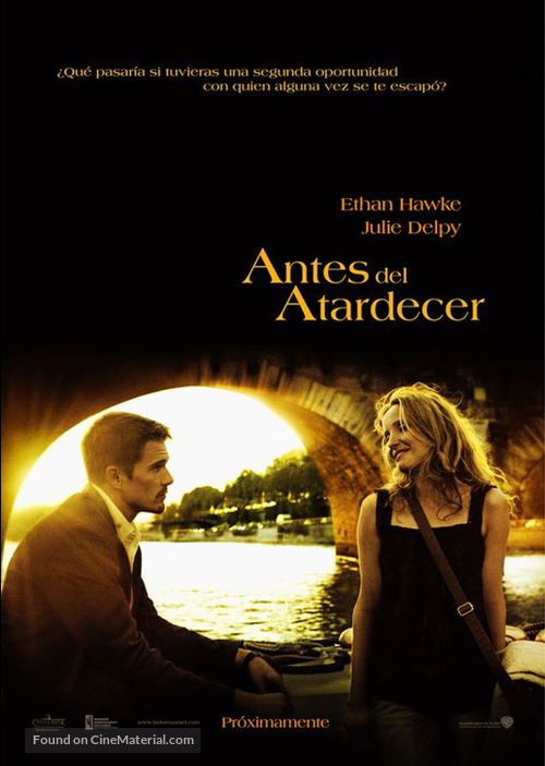 Before Sunset - Mexican Movie Poster