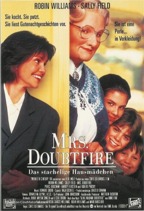 Mrs. Doubtfire - German Movie Poster