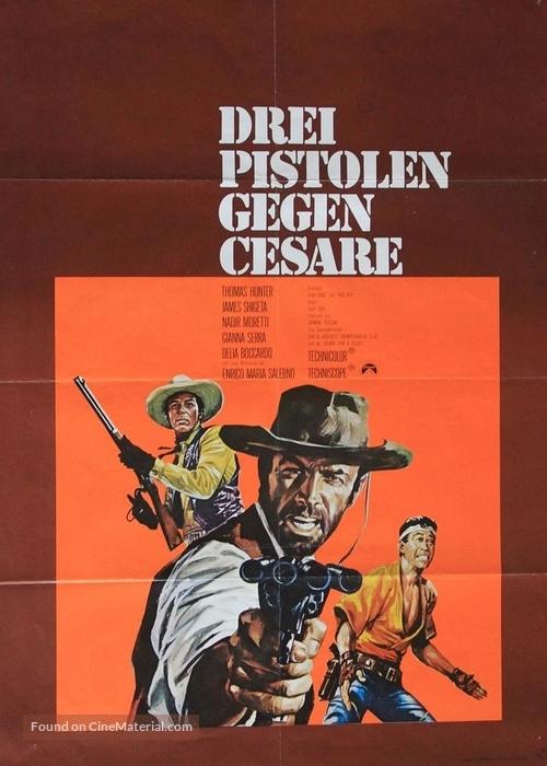 3 pistole contro Cesare - German Movie Poster