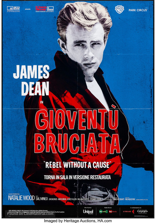 Rebel Without a Cause - Italian Re-release movie poster