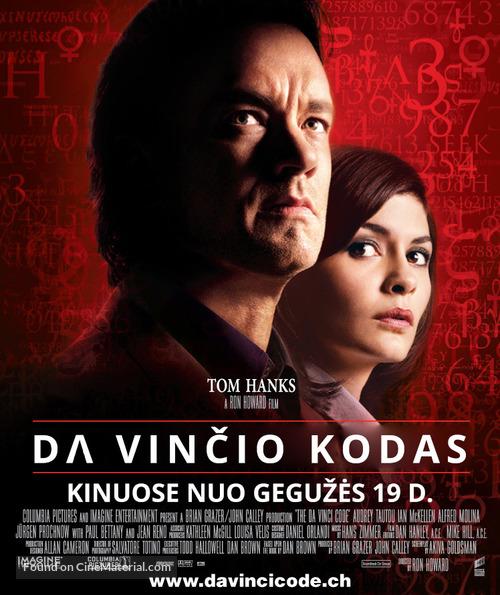 The Da Vinci Code - Lithuanian Movie Poster