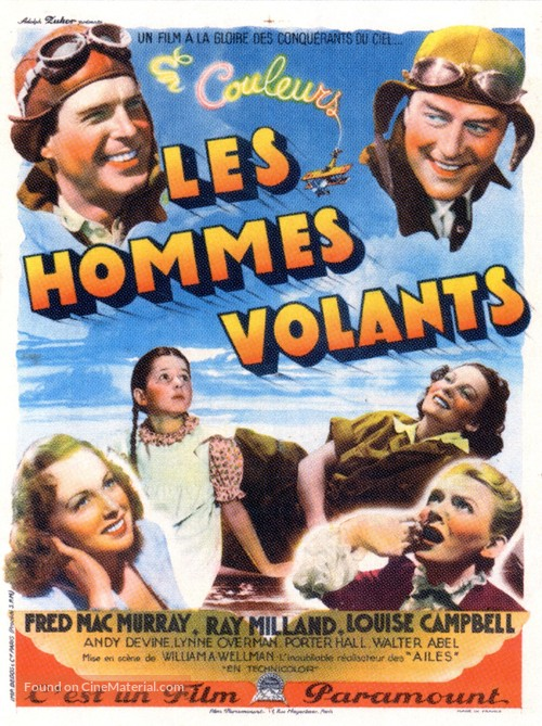 Men with Wings - French Movie Poster