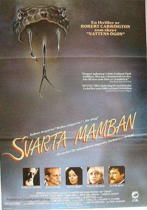 Venom - Swedish Movie Poster