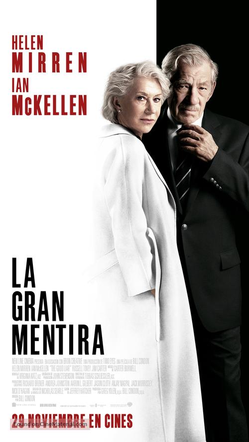 The Good Liar - Spanish Movie Poster