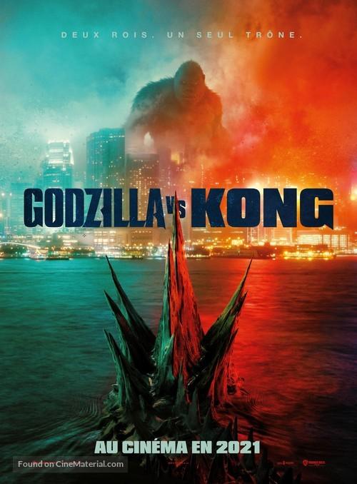 Godzilla vs. Kong - French Movie Poster
