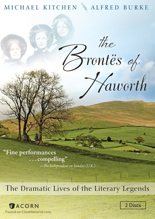 """""""The Brontes of Haworth"""" - DVD movie cover"""