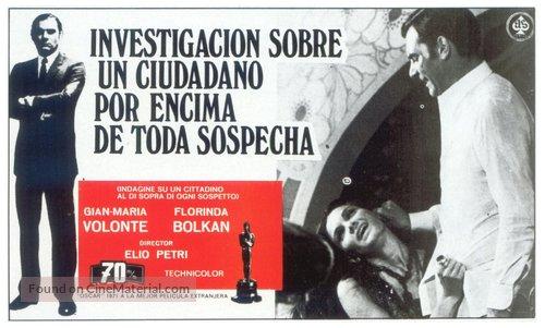 Indagine su un cittadino al di sopra di ogni sospetto - Spanish Movie Poster