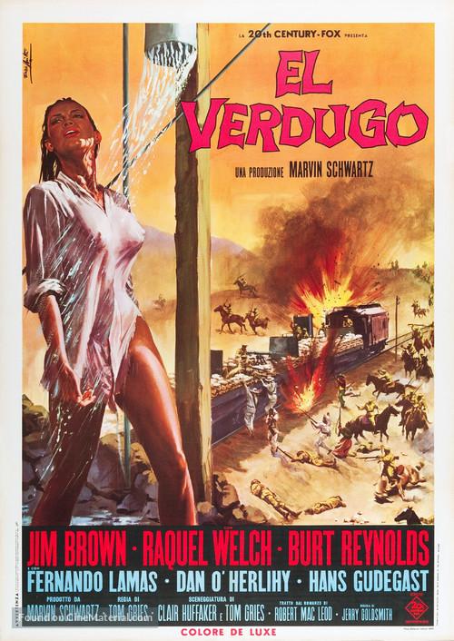 100 Rifles - Italian Movie Poster