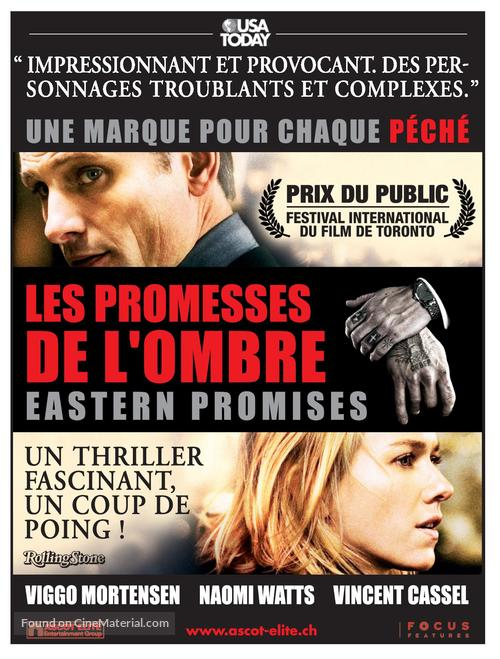 Eastern Promises - Swiss Movie Poster
