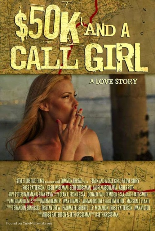 $50K and a Call Girl: A Love Story - British Movie Poster