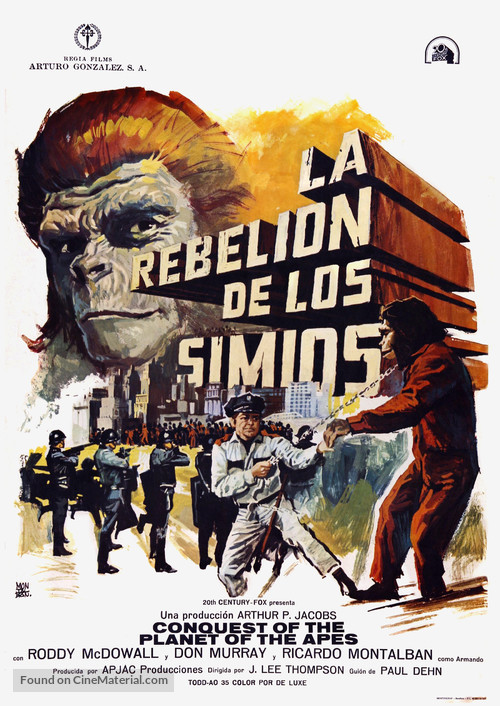 Conquest of the Planet of the Apes - Spanish Movie Poster