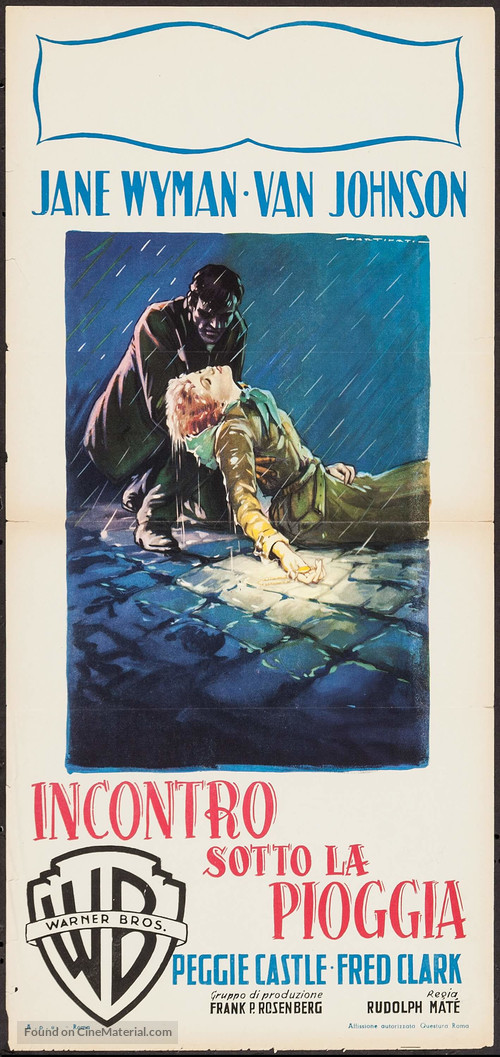 Miracle in the Rain - Italian Movie Poster