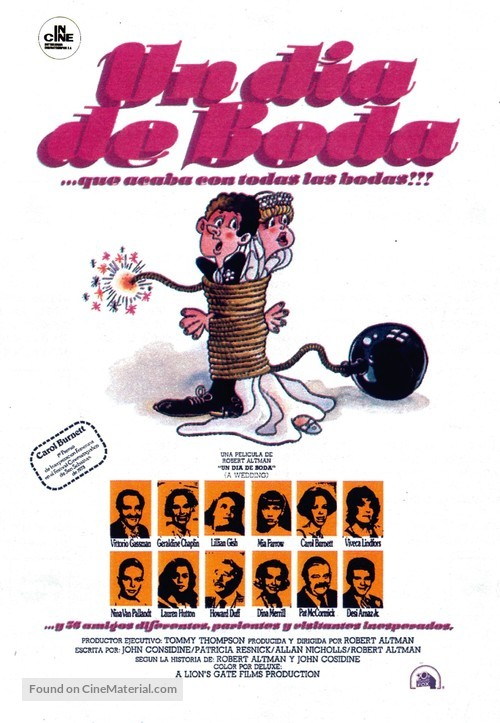 A Wedding - Spanish Movie Poster