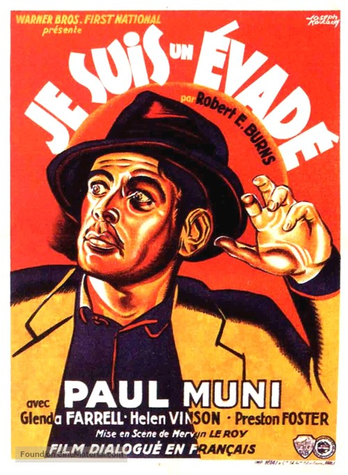 i am a fugitive from a chain gang french movie poster