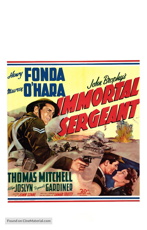 Immortal Sergeant - Movie Poster