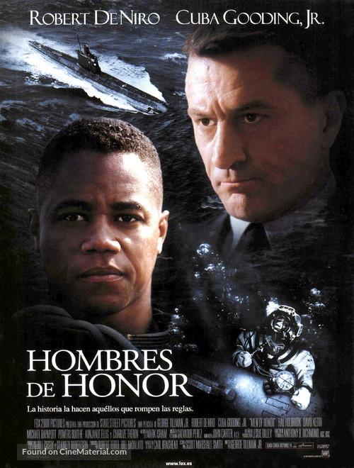 Men Of Honor - Spanish Movie Poster