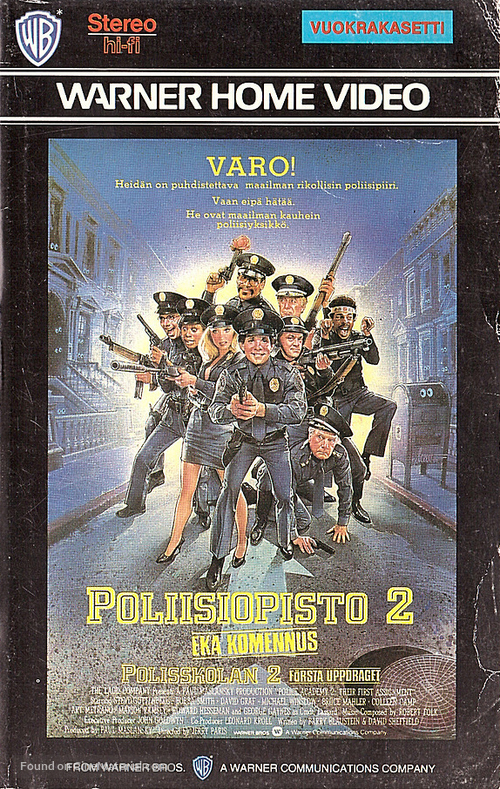 Police Academy 2: Their First Assignment - Finnish VHS movie cover