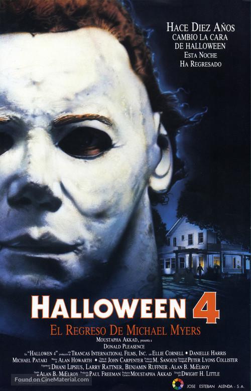 Halloween 4: The Return of Michael Myers - Spanish Movie Poster