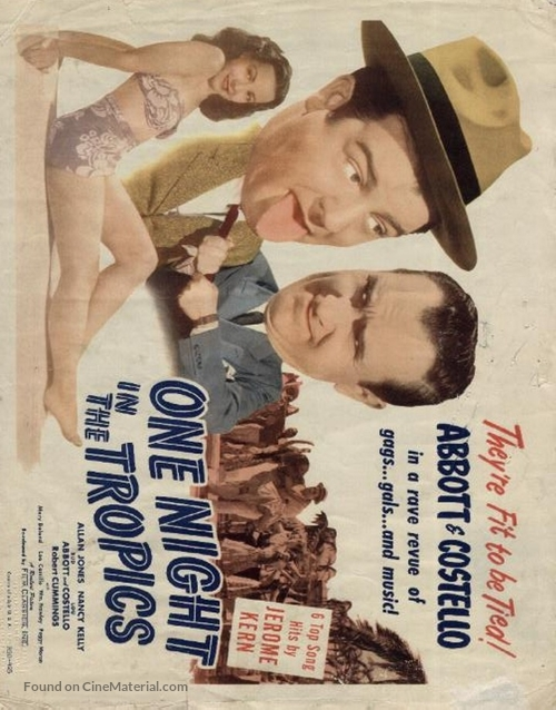 One Night in the Tropics - poster