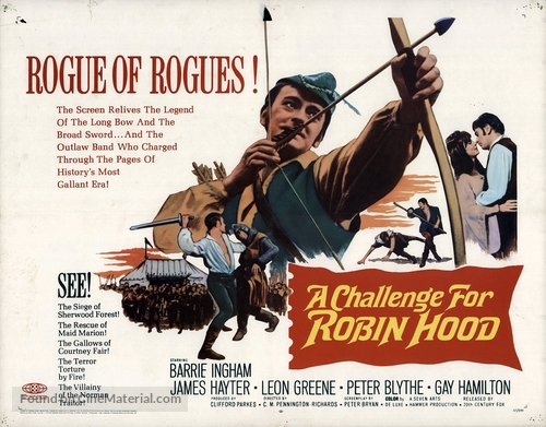 A Challenge for Robin Hood - British Movie Poster