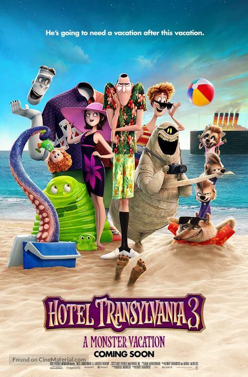 Hotel Transylvania 3 - British Movie Poster
