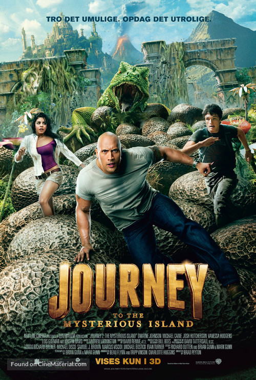 Journey 2: The Mysterious Island - Danish Movie Poster