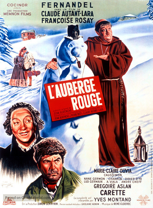 Auberge rouge, L' - French Movie Poster