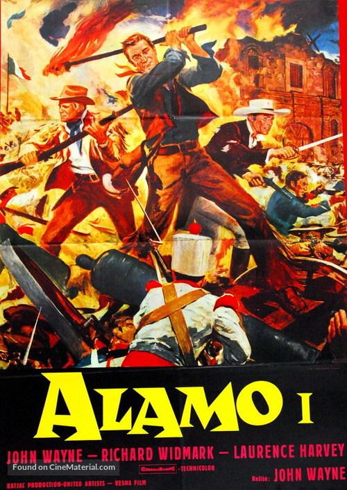 The Alamo - Yugoslav Movie Poster