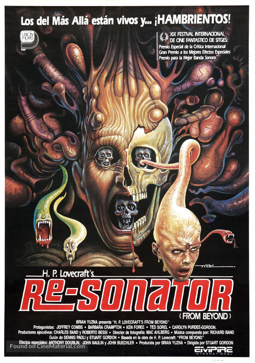 From Beyond - Spanish Movie Poster