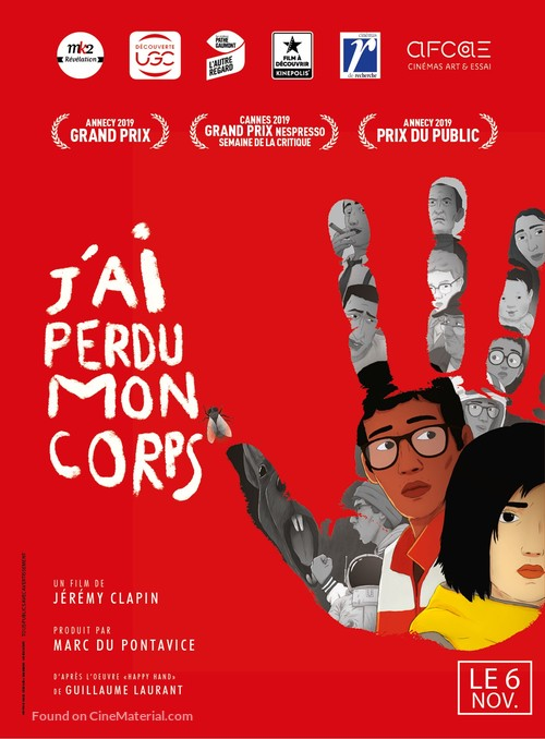 J'ai perdu mon corps - French Movie Poster